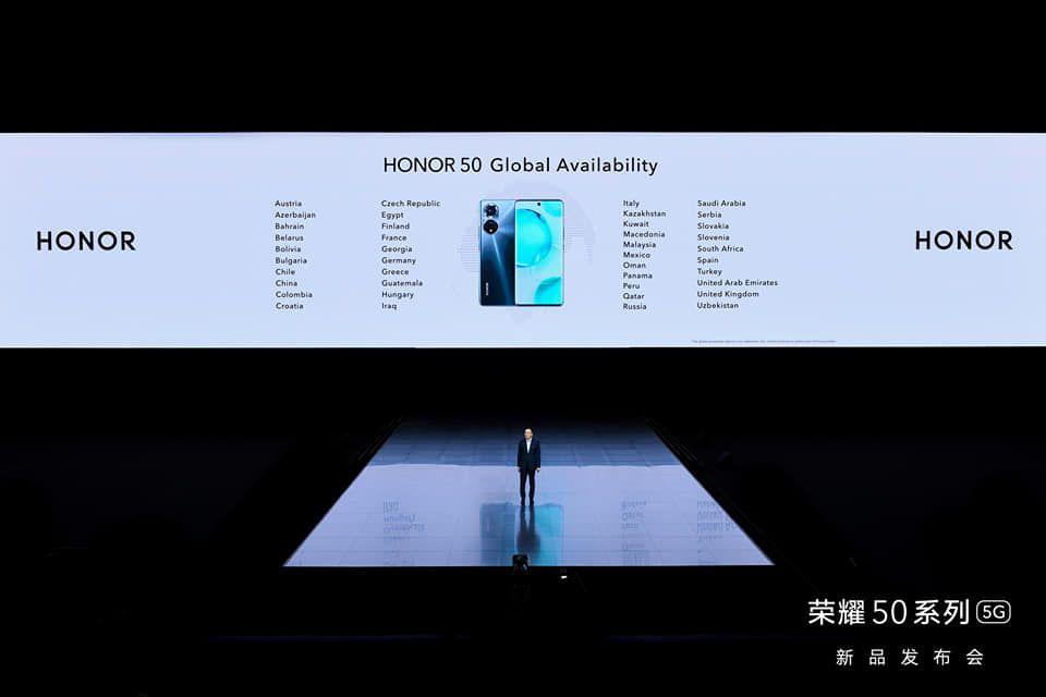 Honor hará entrada en Panamá con la serie de teléfonos inteligentes Honor 50